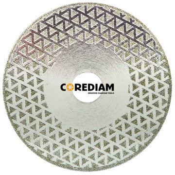 Well-designed for Electroplate Blade For Granite & Marble Two Sides Coated Starred Diamond Saw Blade export to Bulgaria Manufacturer