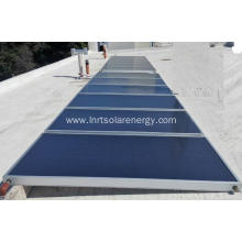Flat panel solar collector for hot water heating