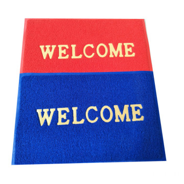 Welcome logo PVC coil  entrance mat