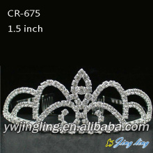 Customized for Wedding Rhinestone Tiaras 2015 New  Rhinestone Tiara supply to Hungary Factory