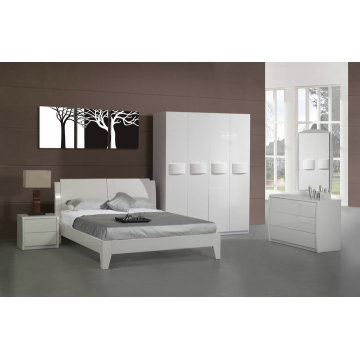 Hot selling MDF panel wood bedroom furniture