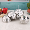 High Quality Stainless Steel Double Layer Round Bowl