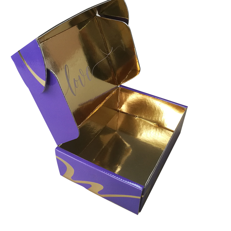 Custom foldable recycled paper box corrugated paper box