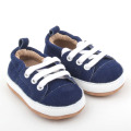 Blue soft sole Leather Baby Shoes