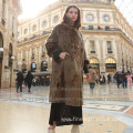 Lady Mink Long Overcoat