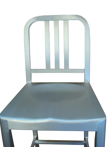Aluminum Nimitz Bar Chair in Room