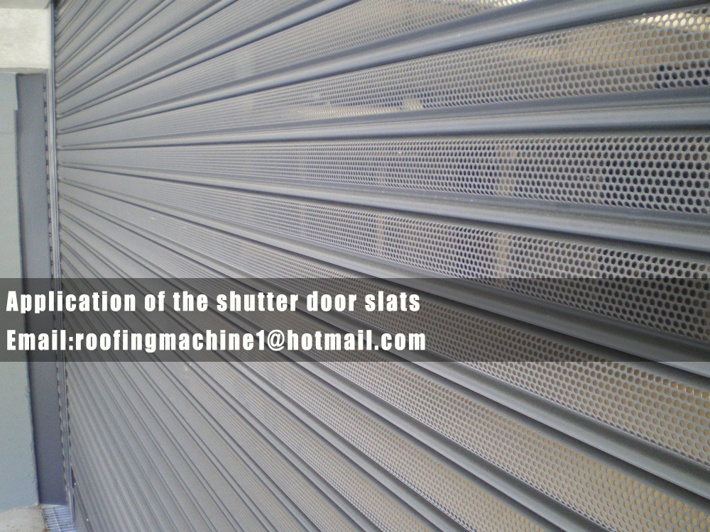 application of the shutter door machine