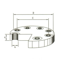 B16.9 Carton steel blind flange