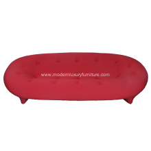 Comfortable Red Fabric Ploum Sofa