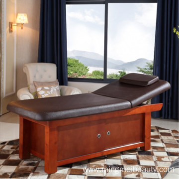 Classical Beauty  wooden spa facial bed