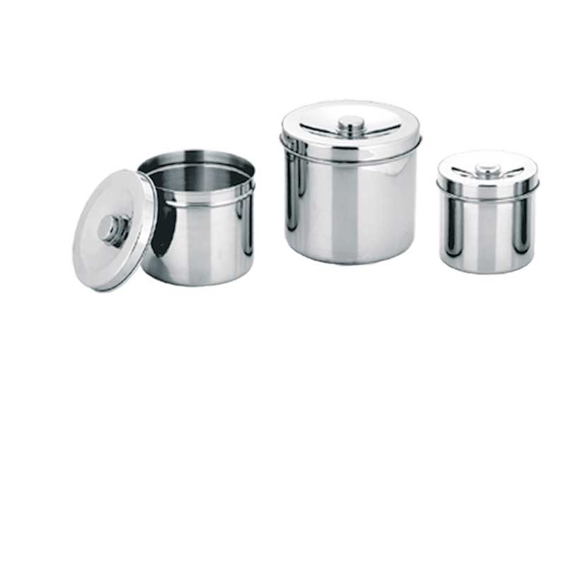 Hospital Medical Stainless Steel Gauze Jar With Lid