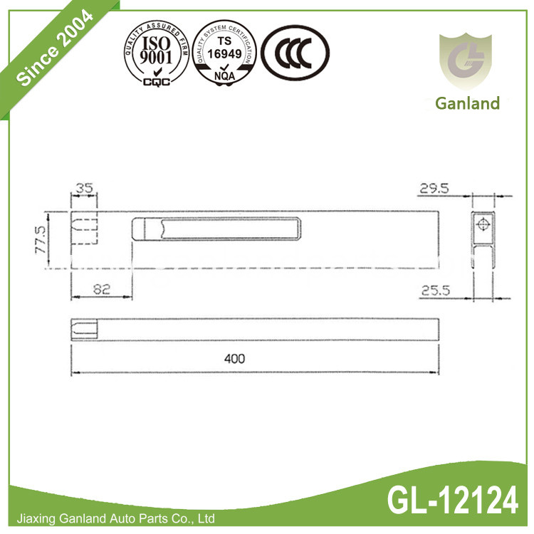 Vertical Dropside Locks 2 GL-12124