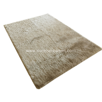 Thin Polyester Silk Shaggy with Lurex Carpet Rug