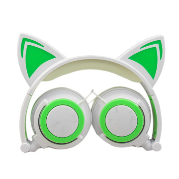 Cat ear lighting headphone for kids gift
