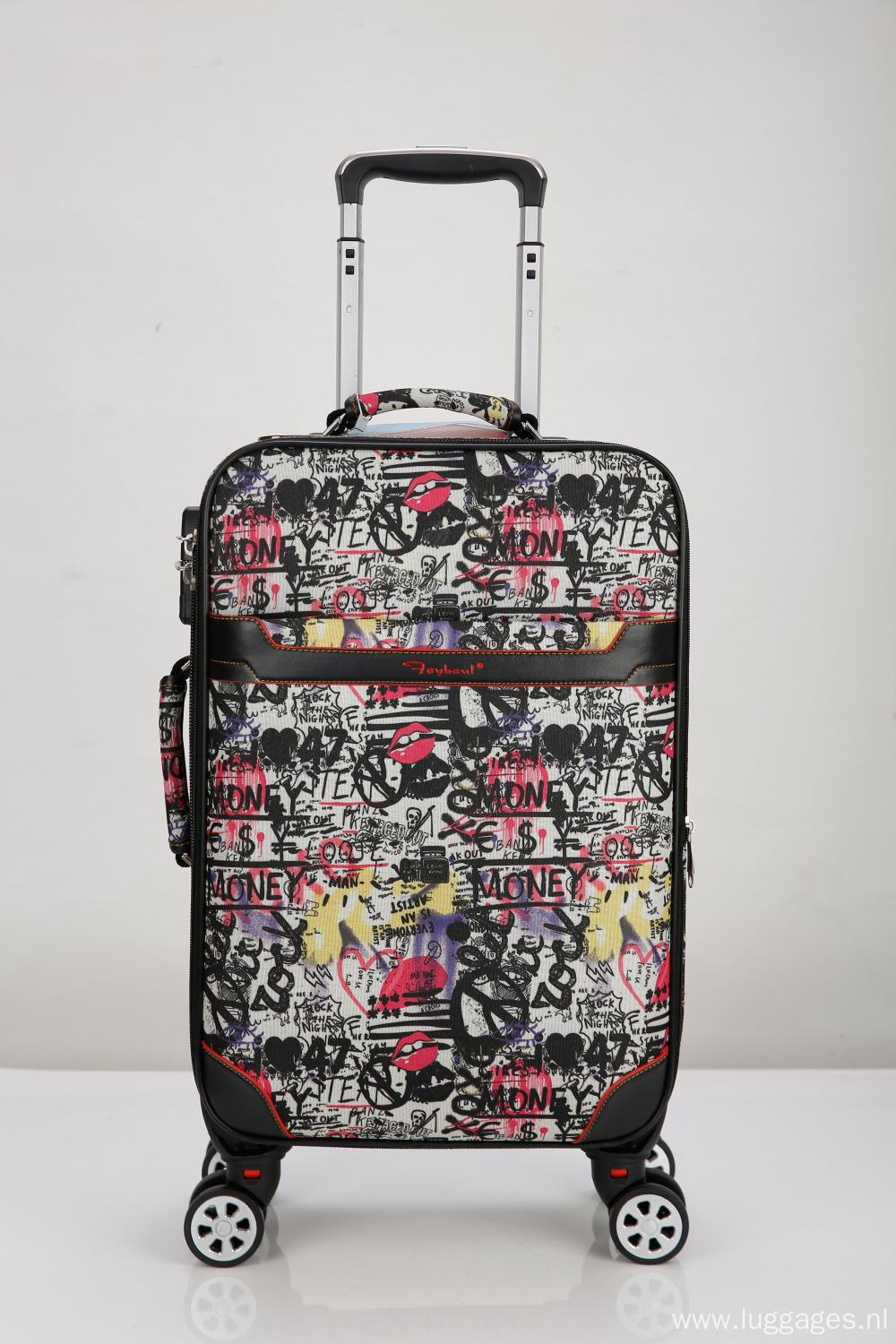 EVA  printed rolling trolley luggage
