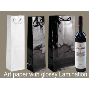 Christmas Wine Bottle Art Paper Bags