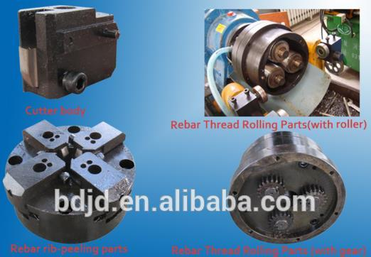 rebar rib-peeling and thread rolling machine
