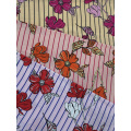 Stripe Flower Rayon Challis 30S Air-jet Printing Fabric