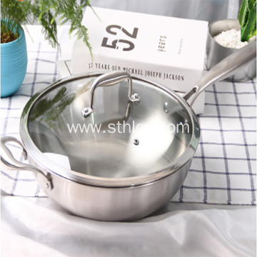 Versatile Functional Stainless Steel Pan 304 Non-stick