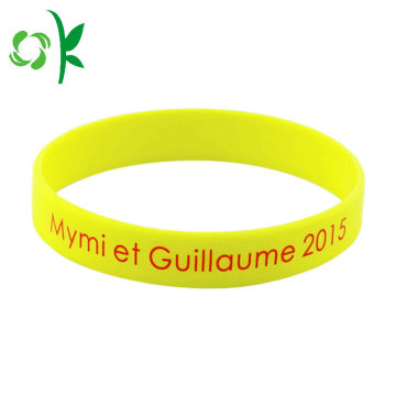 Hot Selling Letter Shape Silicone Wristbands for Gift