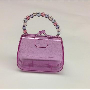 Plastic mini handbag shaped storage box