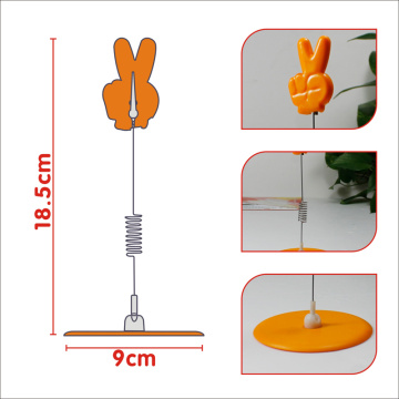 Hand shaped promotional holder