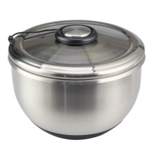 Stainless Steel Salad Spinner, easy spin