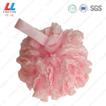 lace mesh shower puff luffa bath sponge