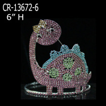Hot Selling for Teddy Bear and Heart Pageant Crowns Rhinestone Custom Tortoise Pageant Crowns export to Belgium Factory
