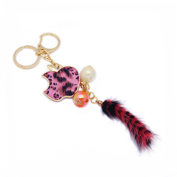 Fox Fur Tail Keychain