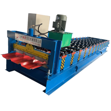 High speed trapezoidal sheet profile roll forming machine