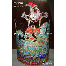Hot New Products for Snowflake Round Crowns Holiday Santa Crowns For Christmas export to Grenada Factory