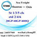 Shantou Sea Cargo Freight to Oslo