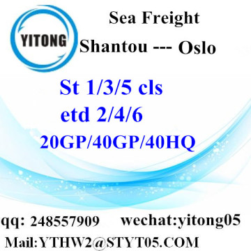 LCL from Shantou to Oslo