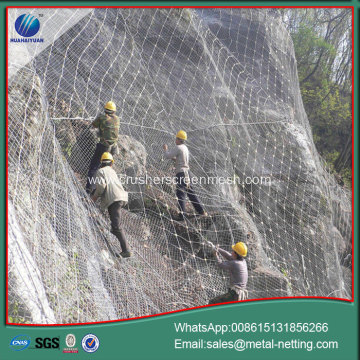 slope protection netting rock fall net mesh