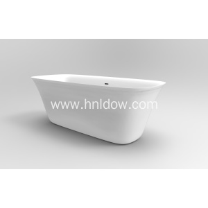 Pure Acrylic Large Simple Freestanding Bath Tub