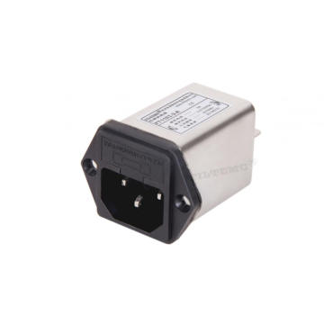 IEC Plug EMI Electrical Power Line Noise Filter