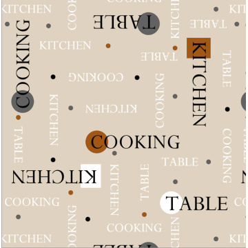 Writing Style Printed Tablecloth With Backing