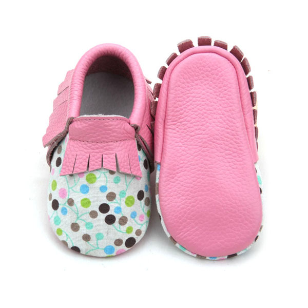 Wholesale Soft Real Leather Latest Fashion Baby Moccasins Shoes