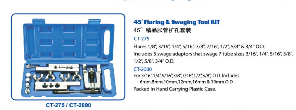 CT-275 Flaring And Swaging Tool Kit