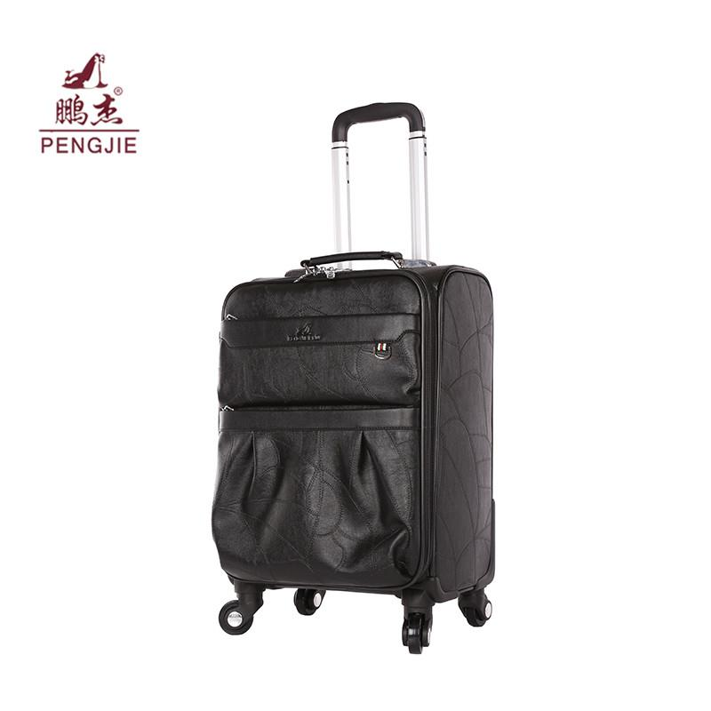 Embossed luggage trolley