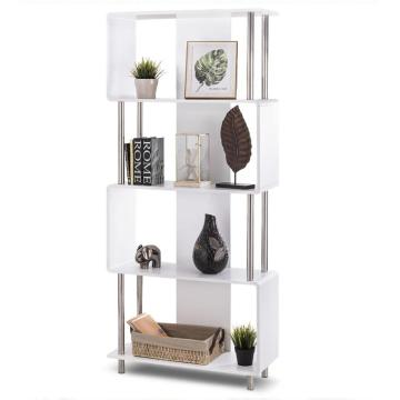 Fast Delivery for Wooden Bookcase Contemporary Vertical Ladder Bookshelf Design for Sale export to United States Supplier