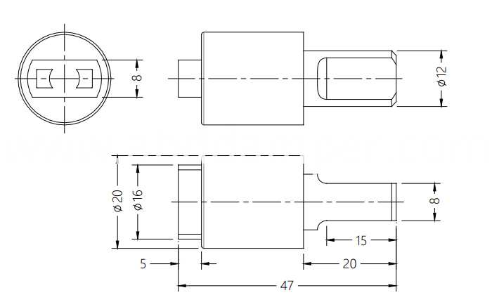 Damper Drawing For Small Cover Plate