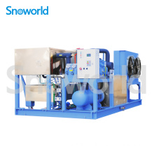 New Product for 1 Ton Block Ice Machine Snoworld Ice Block Making Machine Sold in Uganda supply to Solomon Islands Importers