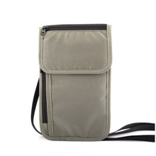 Custom Travel Document Wallet Rfid Neck Pouch