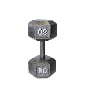 80LB Cast Iron Hex Dumbbell