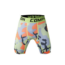 mens camo pattern sublimation compression gym shorts