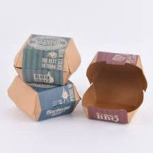 Good Quality for Food Paper Box 300gsm fast food packaging kraft natural hamburger box export to Seychelles Wholesale