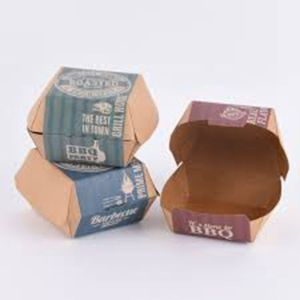 Factory Supply Factory price for Food Paper Box,Disposable Food Box,Fast Food Box Manufacturers and Suppliers in China 300gsm fast food packaging kraft natural hamburger box export to Turks and Caicos Islands Wholesale