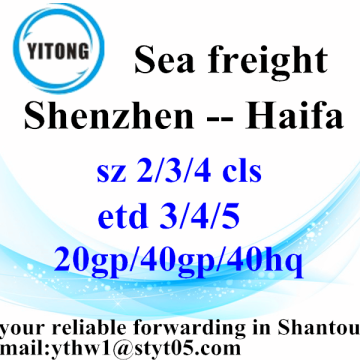 Shenzhen to Haifa Professional Forwarder Agent